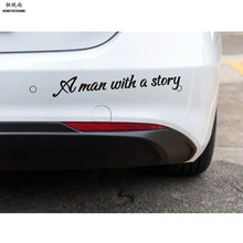 A man with a story Car Stickers for Audi A4 B6 A3 A6 C5 Q7 A1 A5 A7 A8 Q5 R8 TT S5 S6 S7 S8 SQ5 Car Styling(China)