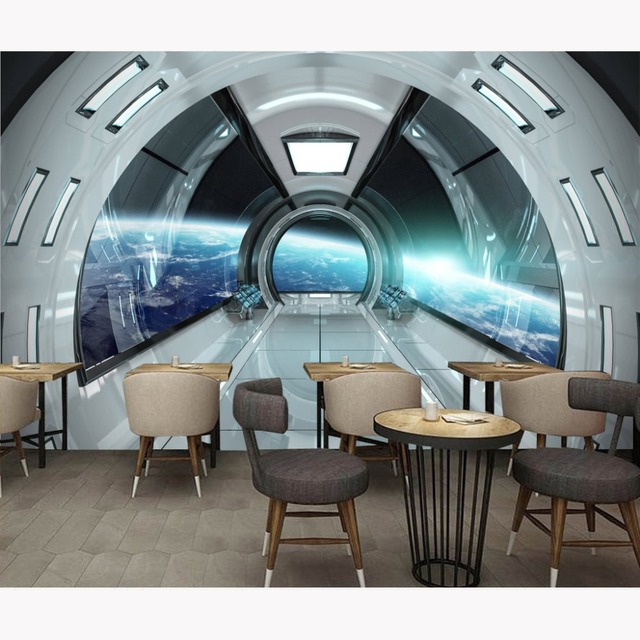 Moderno Wall Papers Stickers Spaceship Photo Wallpaper Home Bar