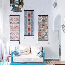 Модный в национальном богемном стиле геометрический узор прикроватный гобелен для спальни хлопковый и льняной фон Настенный декор гобелен