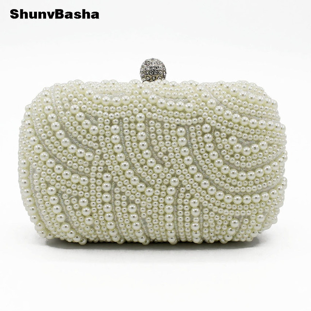 Embroidery Handmade Pearl Handbags Rhinestones Beaded Wedding Bags Small  Day Clutches Night Club Evening Bags 51 TXJ