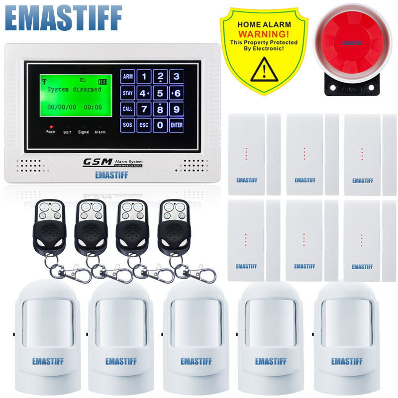 New big screen Wireless GSM Android Alarm For 2017, GSM Security Alarm System/Alarms/Sms,new Door PIR kit 850/900/1800/1900MHz автоматический открыватель двери new rtu5025 gsm sms gsm