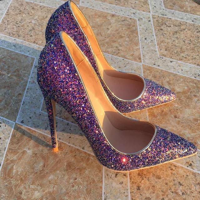 New Spring Ladies shoes High heels Pumps Pointed toe