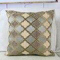 Серый/кофейный чехол для подушки  синель в марокканском стиле  домашний декоративный чехол для подушки 45x45 см