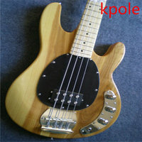Nature Wood Muic Man Electric Bass Musc Man StingRay 4 Strings Ernie Ball Bass Free Shipping