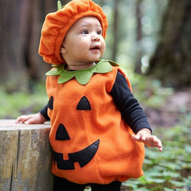b8cbba03b 0 3T Halloween costume for kids Newborn Baby boy Girl Pumpkin Tops ...