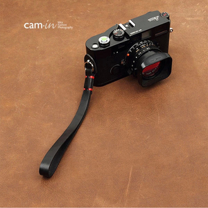 Image 1 - Cam in 3011 3017 Cowskin Camera Wrist Strap Cowhide Leather DSLR Spire Lamella Hand Belt Photography Accessory 7 Colors
