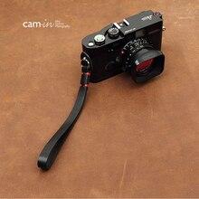 Cam in 3011 3017 cowskin câmera pulseira de pulso couro do couro dslr spire lamella cinto de mão fotografia acessório 7 cores
