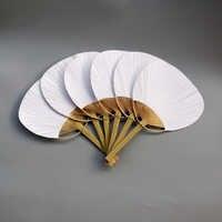 30 pcs/lot ventilateur de pagaie blanc de mariage pour la décoration de mariage
