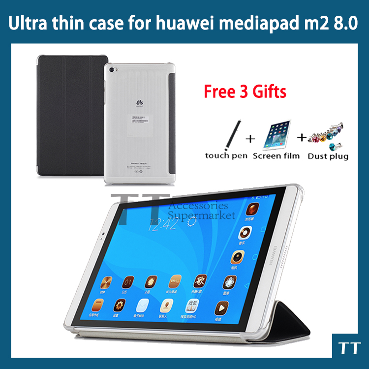 "Купить For Huawei Mediapad M2 8.0 Case Ultra Slim Case For Huawei M2-801W M2-803L 8""tablet Pc   Free 3 Gifts"