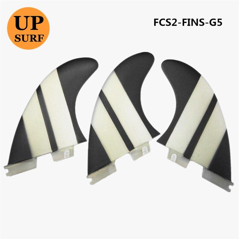 FCS II G5 Ailettes Noir décorer En Fiber De Verre Fin aileron de surf FCS2 G3, G7 aileron de planche de surf offre spéciale