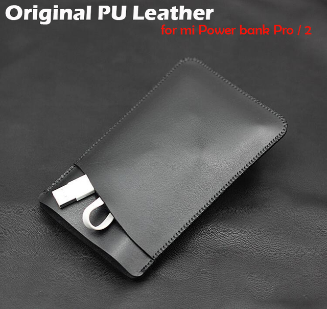 purchase cheap 5973e 9e565 US $9.91 20% OFF|Original PU leather Case for Xiaomi Power Bank 20000mAh 2C  Mi powerbank 10000mah Pro / 2 Protetive case 10000 20000 Pouch cover-in ...