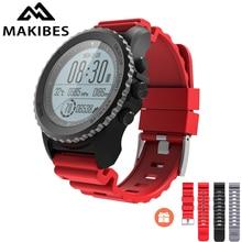 Получить скидку Новый Makibes G07 gps спортивные часы Bluetooth Smart часы IP68 Водонепроницаемый динамический монитор сердечного ритма Multi-спортивные часы gps трекер
