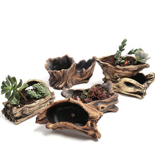 Creative Root Shape Carved Flowerpots For Succulents Fleshy Plants Clay Coarse Pottery Mini Best Gift Flower pot