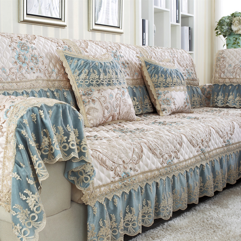 Luxury Europe Sectional Sofa Towel Corner L Shape Sofa ...