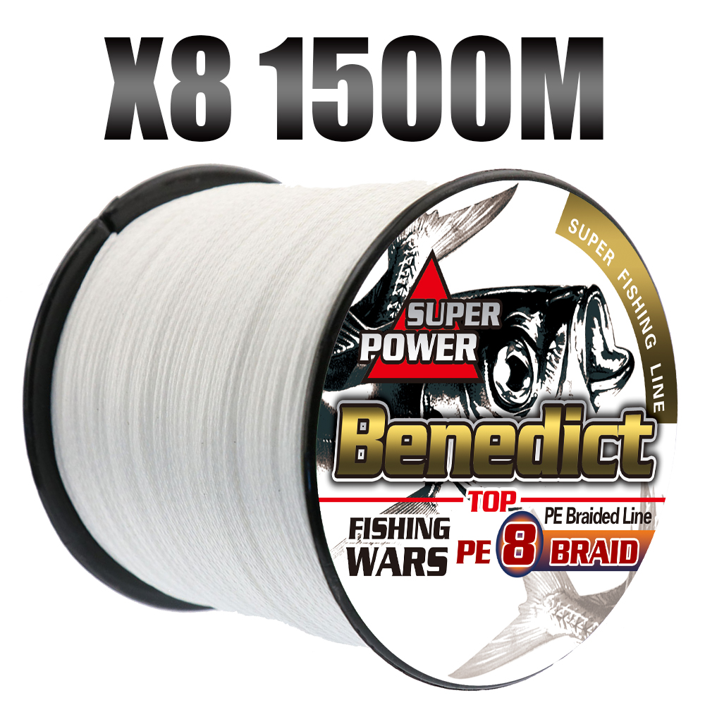 Top pe super 1500M braided lines fishing 8 strands strong big game multifilament fishing cord 6LB