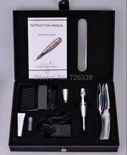 1Set DELUXE MERLIN MACHINE Kit Permanent Makeup Cosmetic Tattoo Machine Kits Power Supply Adapter Supply