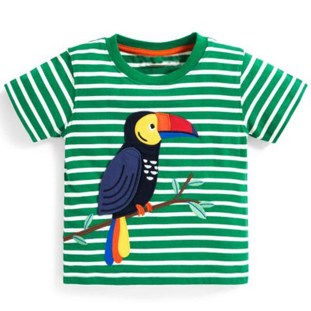Boys' Bright Printed Cotton T-Shirt