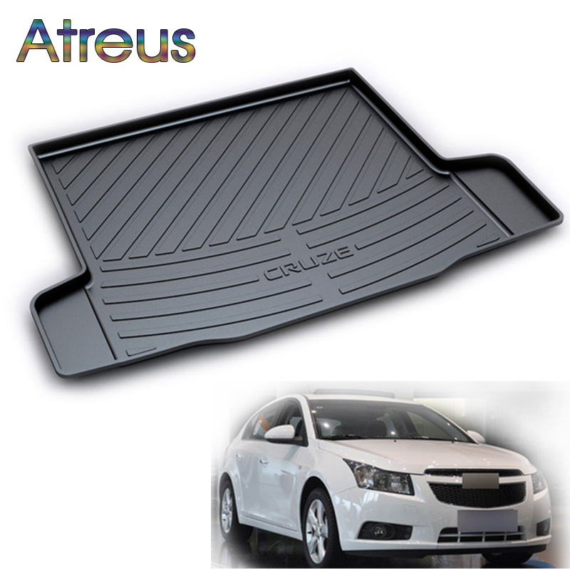 Atreus Car Rear Trunk Floor Mat Durable Carpet For Chevrolet Captiva Sail Trax Cruze Epica Equinox Malibu Boot Liner Tray mat high quality car central station mat sticker for chevrolet cruze black 1pcs free shipping kl12329