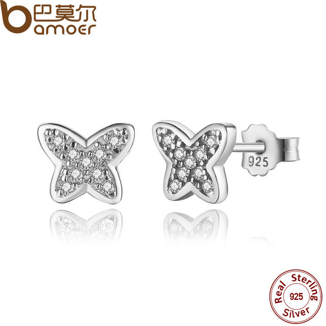 Sterling Silver Petite Butterfly Stud Earrings