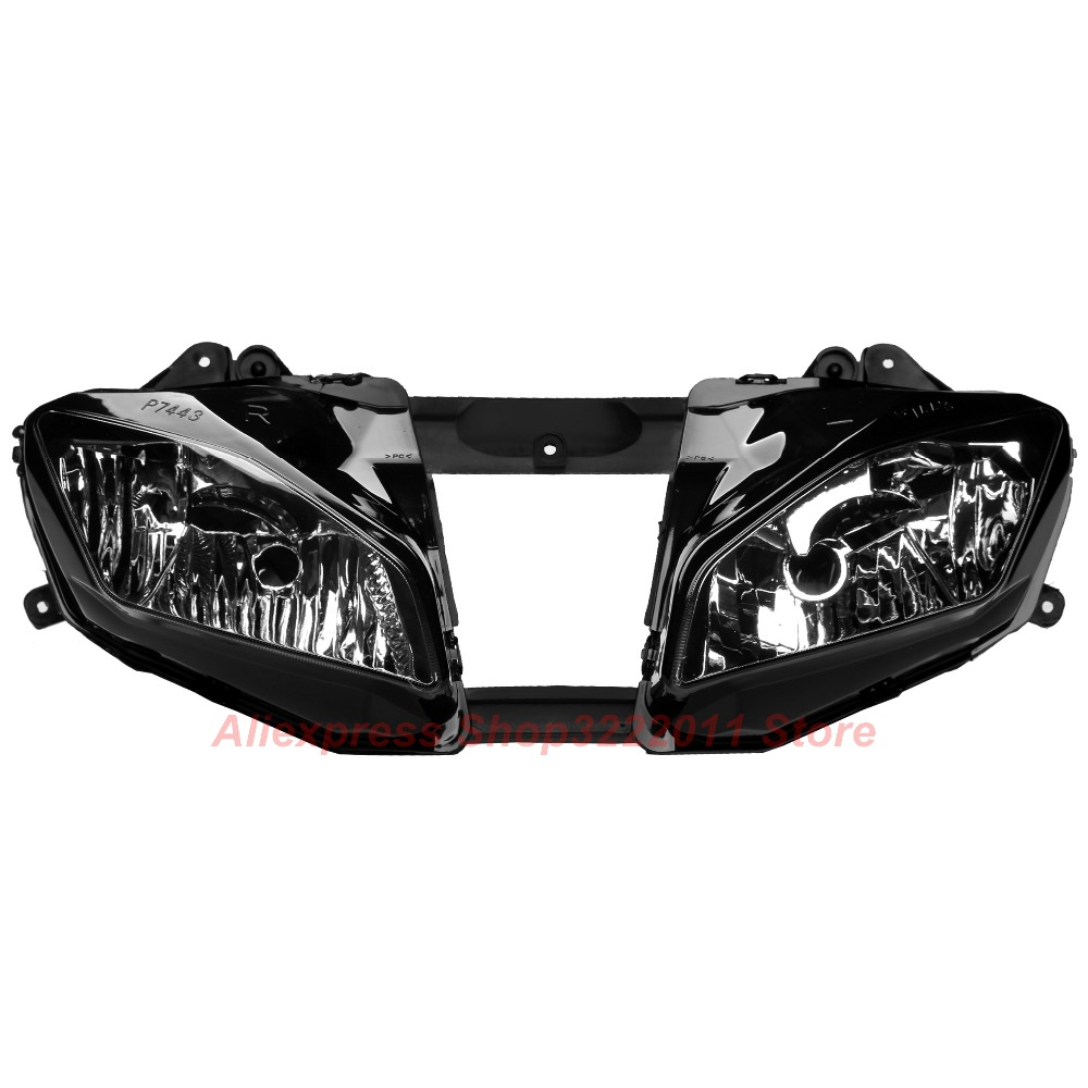 Clear Lens Motorcycle Plastic Front Light Lamp Case For Yamaha YZF R6 2008 2009 2010 2011 2012 2013 Headlight Housing Set hot sale abs chromed front behind fog lamp cover 2pcs set car accessories for volkswagen vw tiguan 2010 2011 2012 2013