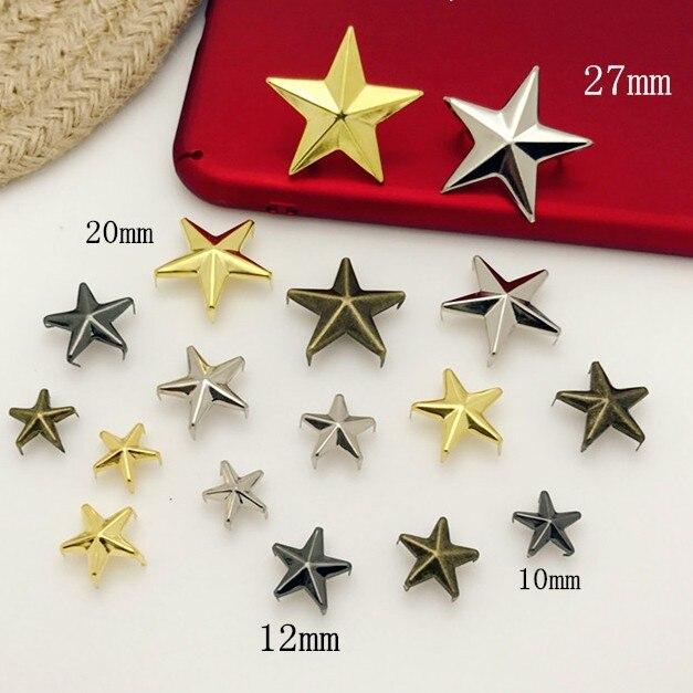 Star Nail Rivet Jacket Shoes Bag Accessories DIY embellishments for Scrapbooking Brads Scrapbook Bronze gold sliver wholesale ...