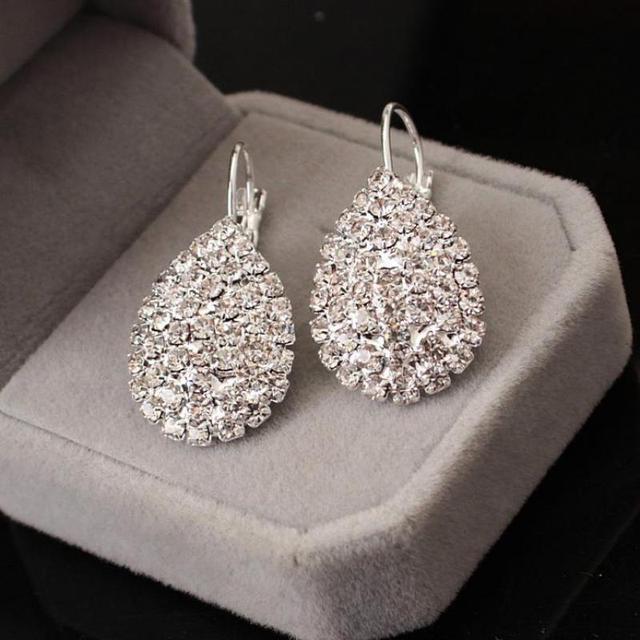 Free Gift Box Luxury Women Water Drop Pendant Earrings Elegant / Wind Claw Fine Earrings 2017 New / Jewelry Earrings Wholesale