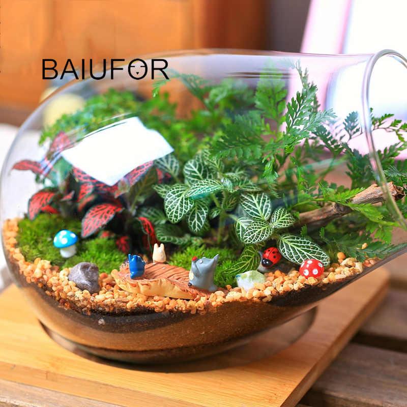 1 BAIUFOR Super Mini Animais Estatuetas de Jardim de Fadas Miniaturas Terrário diy Musgo Micro Paisagem Decoração de casa de Boneca Acessórios