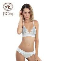 Leechee Z070 ren đồ lót nữ sexy lingerie quần lót Áo Ngực Bộ yếm briefs đối với phụ nữ bralette Bikini set v