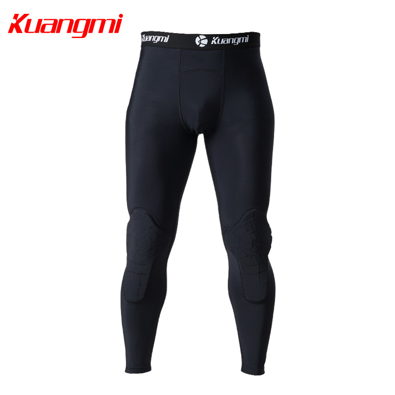 Kuangmi Men Gym Clothing Fitness Sportswear Compression Tights Suits Running Sport Tight Jogging T shirt and Pants Set Clothes - 2