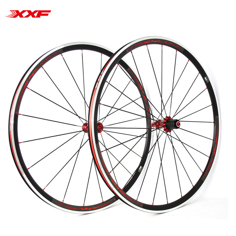 Special offer <font><b>700C</b></font> Road bike Wheels Aluminum <font><b>20H</b></font>/24H Holes wheelset Ultralight <font><b>Rims</b></font> With Titanium Quick Release 11 Speed image