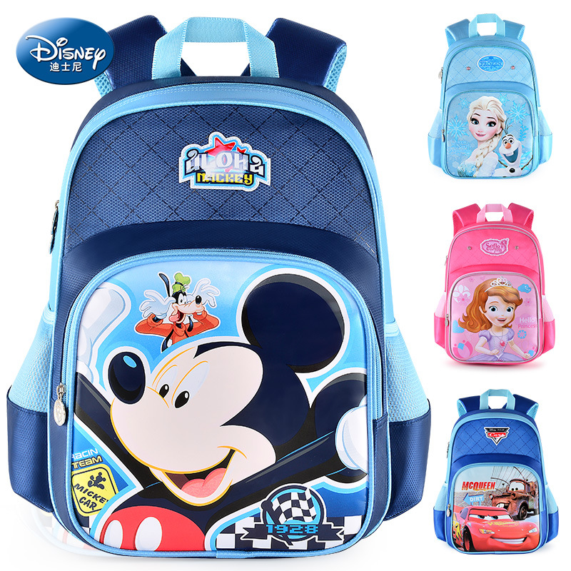 Disney Bags Mickey Waterproof School Book Backpack Kids New Upgraded Reflective Large Capacity Pink Red Bag Creative Gift