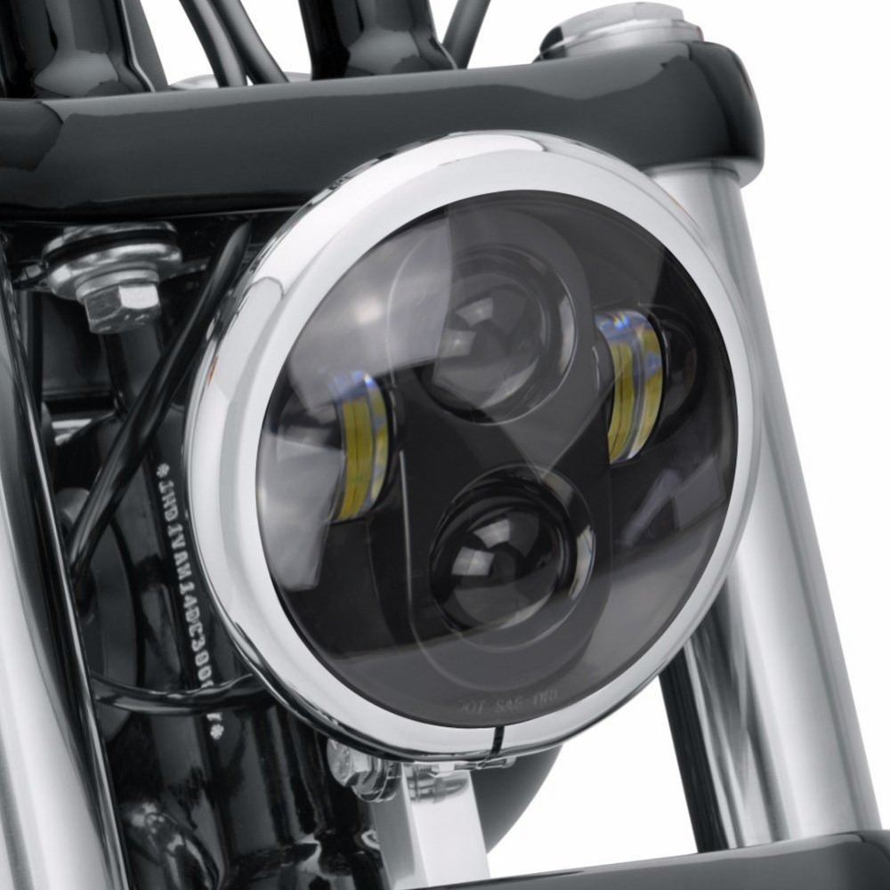 5 3/4 5.75 Round LED Projection moto Headlight For motor Davidson Motorcycles Iron 883 XL883N Sportster 1200 Custom XL