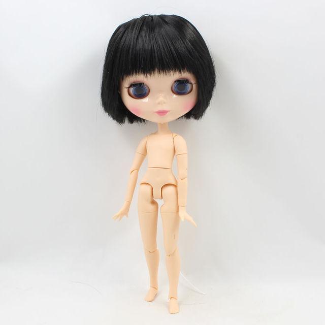 Фабрика Neo Blythe Чоловіча Лялька Чорний Прямий Волосся Спільне Тіло 30cm
