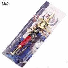 Anime Destiny Knife Weapon Keychain Pledge Victory Sword Model 3Colors Keyrings FATE Man Titan Warlock Keychains