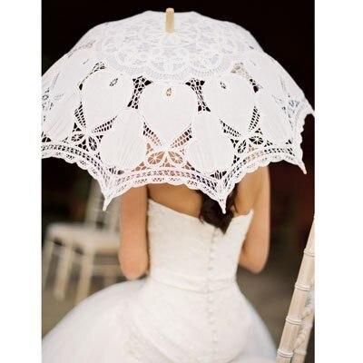 2016 elegante nobre Rendas guarda-chuva Do Ventilador E Do Casamento Lace Umbrella Parasol para baidal