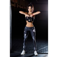 YSMARKET Fashion Sexy Clothing For Fitness Leggings Women Sportwear Joggers Mid Waist Sporting Print Workout Jegging