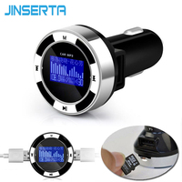 JINSERTA Auto Mp3-speler Draadloze Fm-zender OLED Tf-kaart Muziek speler Dual USB Auto-oplader voor iPod iPhone Samsung MP3 MP4