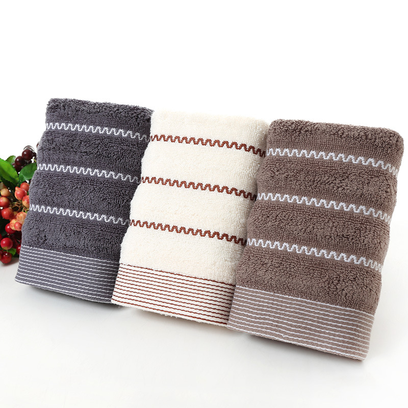 bath towel thicked pure cotton jacquard solid towel in Bath Towels from Home Garden