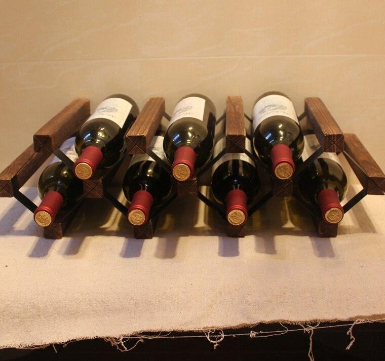 Древесина павловнии винный шкаф с лаком поделки собраны 7 бутылка японский Стиль держате ...