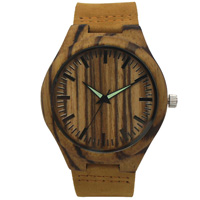 old leather man watch bamboo4