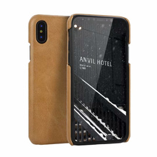 For iphone 11Pro Vintage Style Genuine Leather Hard Back Cover For iphone XR Xs Max 7 8 Plus 11Pro Max Luxury Leather Phone Case цена 2017