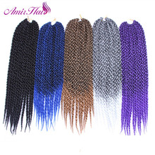 Амир волос 22 дюймов 12strands 3D кубический твист плетение Синтетические волосы с длинные черные и ombre блондинка HAVANA Мамбо крючком косы
