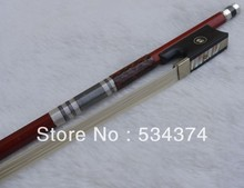 Top quality Rosewood  violin bow with best Natural Mongolia horse tail and elastic white copper ebony parts