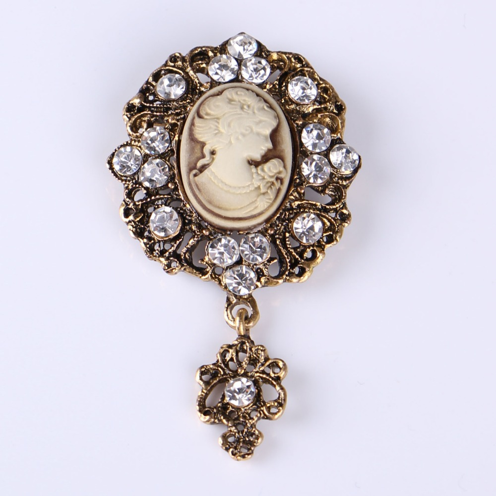 Vintage Beauty Head Brooch Jewelry For Women/men Fashion