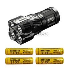 Nitecore TM28 6000 Lumen Wiederaufladbare Taschenlampe/Such-4x XHP35 HALLO LED mit 4x Nitecore 3100 mAh 18650 IMR batterien