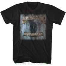 Bon Jovi Mens T-shirt Licensed New Jersey In Black Cotton Nwt Sizes Sm - 5xl a13f11fc6