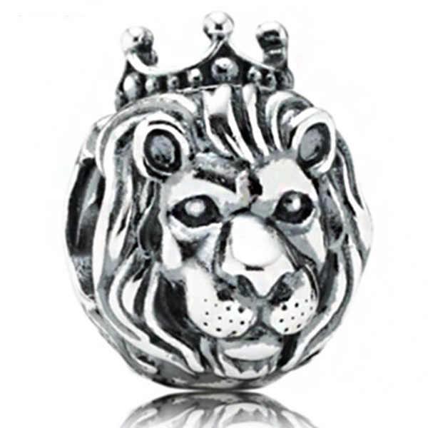 ホット販売豪華なライオンスノーフレーク亀猫スターの花のハートビーズフィットパンドラチャームブレスレット女性の Diy のジュエリー
