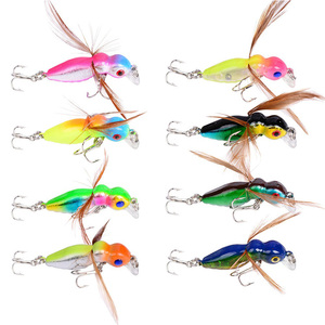 Image 2 - 1pcs Fishing Lure Butter Fly Insects Various Style Salmon Flies Trout Single Dry Fly Fishing Lures 4.5cm 3.6g Fishing Tackle