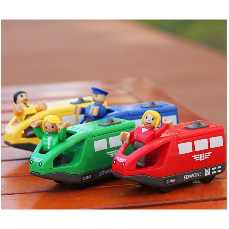 Kids Electric Train Toys 10.5*4CM Magnetic Wooden Slot Diecast Electronic Vehicle Toy Birthday Gifts For Children