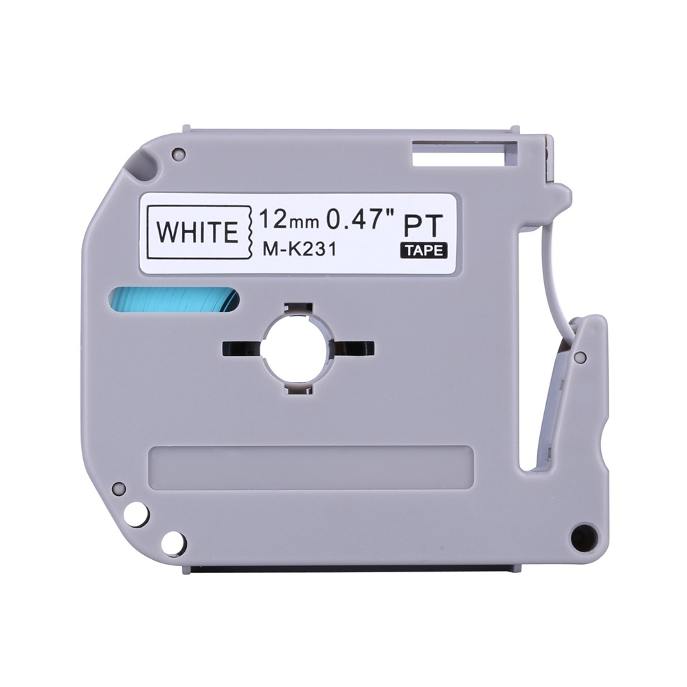 "2PK MK231 M-K231 M231 for Brother 12mm 1//2/"" Black on White 26.2ft Label Tape"